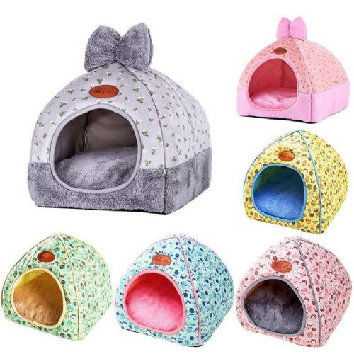 Pink Dog House Bed